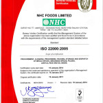 ISO 22000-2005 Certificate